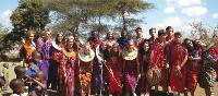 Traditional dress on the community project tour, Kenya | Ian Williams