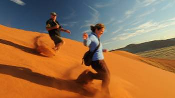 Sossusvlei is an area of enormous sand dunes | Andrew Thomasson