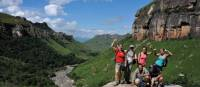 Group of trekkers in the Drakensberg Ranges