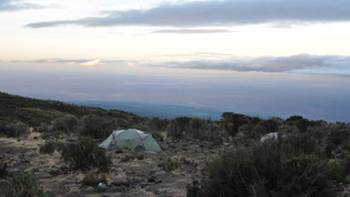 Camping on the slopes of Kilimanjaro | Peter Brooke