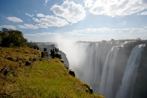 Views over the powerful Victoria Falls