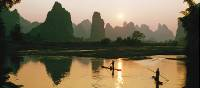 The Li River at sunset, Yangshuo, China