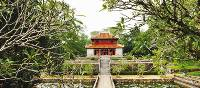 The majestic minh mang tomb in Hue, Vietnam