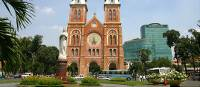 Notre Dam Cathedral in Ho chi minh city, vietnam