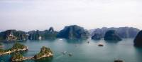 Vietnam's Halong Bay includes some 1,600 islands and islets, forming a spectacular seascape of limestone pillars
