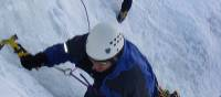 Getting in some ice climbing
