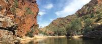 Crossing the water at Ormiston Gorge. | Ayla Rowe