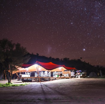 The clear Outback skies reveal a myriad of stars over Larapinta Campsites - <i>Photo: Caroline Crick</i>