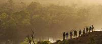 Murray River Walk trekkers look out at view