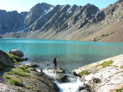 Glacial lake in the Celestial Mountains