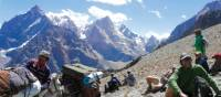 Rest stop on the Pamir Fann Mountain Trek | Natalie Tambolash