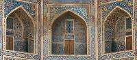 The tiled medressas of Samarkand mark the legacies of the Tamerlane rule that thrived in Central Asia over 1000 years ago. | Sue Badyari