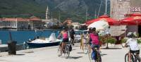 Children cycling into the town of Jelsa on the island of Hvar | Ross Baker
