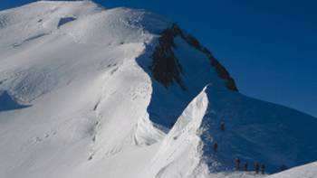 Climbers on Mont Blanc