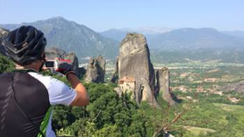 Taking in the magnificent site of Meteora