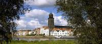 The city of Deventer on the banks of the Ijssel River