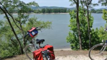 Bikes resting beside the Danube, Hungary | Lilly Donkers