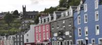 The town of Tobermory on our 'Bike and Boat' trip