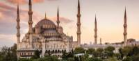 Beautiful colours over Blue Mosque columns | Richard I'Anson