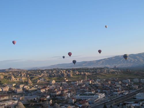 Early morning balloon ride above Cappadocia - <i>Photo: Ross Baker</i>