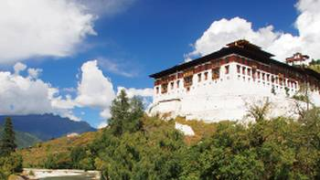 Paro Dzong Assembly Hall, Paro, Bhutan | Scott Pinnegar