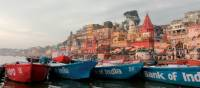 Vibrant colours sailing down the Ganges in Varanasi | Rachel Imber