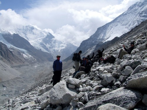 Amongst the mountain peaks of the Annapurna Range - <i>Photo: Chris Jones</i>
