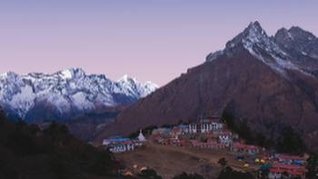The monastery at Thyangboche, surrounded by impressive mountain vistas | Peter Walton