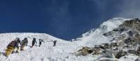 Climbers approaching the summit of Louche East | Gavin Turner