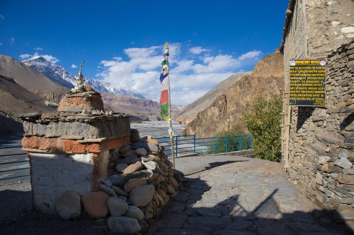 Pass through the scenic Kagbeni Checkpoint on Upper Mustang - <i>Photo: Jean-Marie Hullot</i>