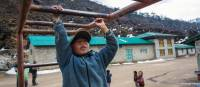 Local child shows off his skills on the monkey bars | Mark Tipple