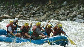 Riding rapids in Nepal makes for an exciting adventure