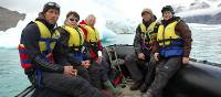 Group shot in the zodiac, Arctic region | Fiona Windon