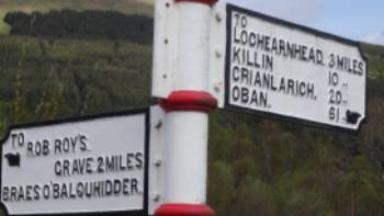 Signposting on the Rob Roy Way