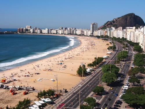 Views of the iconic Copacabana beach strip - <i>Photo: Scott Pinnegar</i>