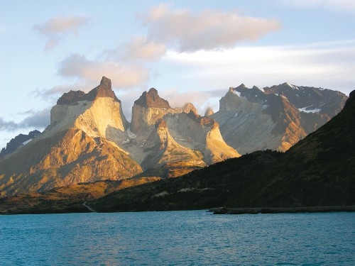 Early morning view of Cuernos del Paine, Patagonia - <i>Photo: Carole Solomons</i>