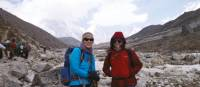 Just a couple of trekkers smiling for the camera | Sally Imber