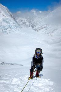 Ascending Lhotse Face to C3 on Everest..