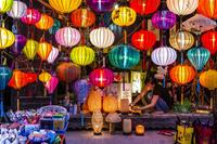Brightly coloured lanterns in the streets of Vietnam. Photo credit: Richard I'Anson