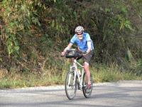 Greg on the Chang Mai to Vientiane Cycle