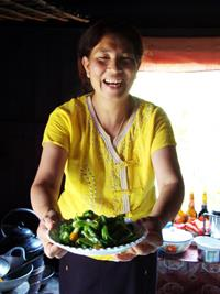 An authentic cooking class with Tin Tin - a Myanmar local.
