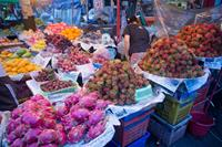 Fresh fruit in Myanmar markets.