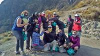 Peru guide Tina & World Expeditions on 10 Pieces Litter cleanup on Inca Trail