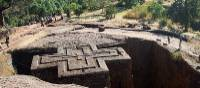 The Church of St George is the best known of the rock hewn churches of Lalibela | Caroline Mongrain