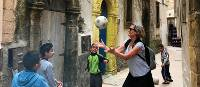 Playing with local kids in Essaouira streets | Robyn Lyons