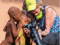 Local Himba children fascinated with the camera -  Photo: Peter Walton