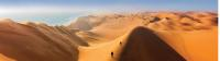 Climbing the sand dunes of Sossusvlei -  Photo: Peter Walton