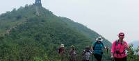 Trekkers on a descent along the Great Wall | Victoria Earl