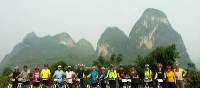 Cycling to Moon Hill in Yangshou Province, China