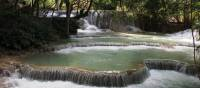 Serene pools at  Khuang Si Waterfall | Kylie Turner